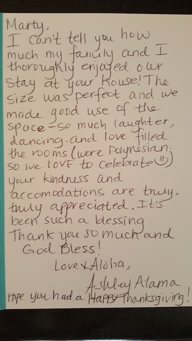 Note from a guest.