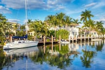 Coral Ridge Community Luxury Homes have yachts, on water canals is direct ocean access  My home is NOT on canal.