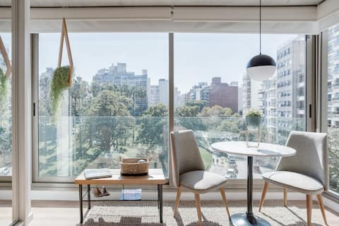Relax in the open view of this naturally lit apartment
