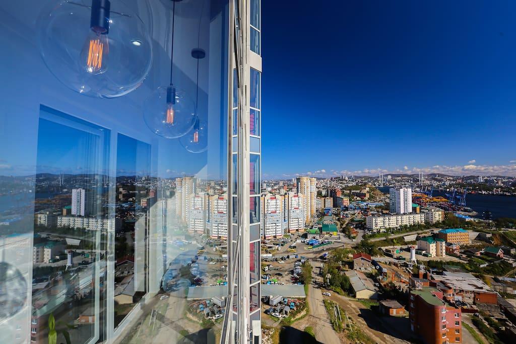 Отличный панорамный вид на город