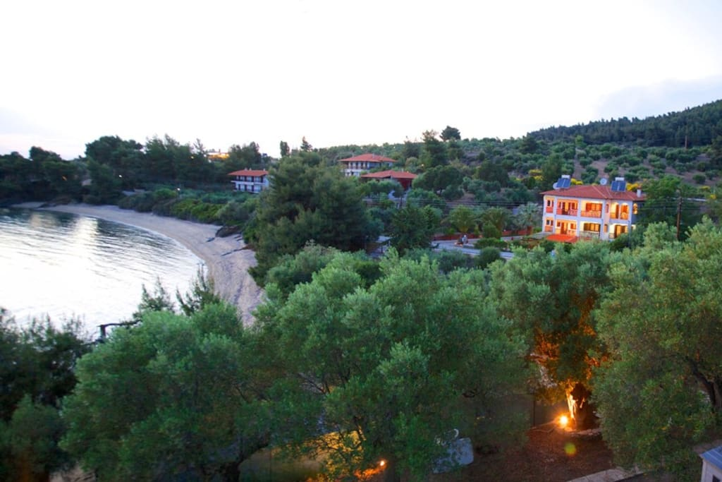 Panoramic view of our Villa and beach