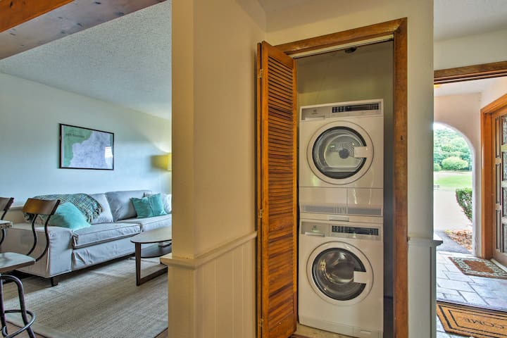 In-unit laundry machines add convenience.
