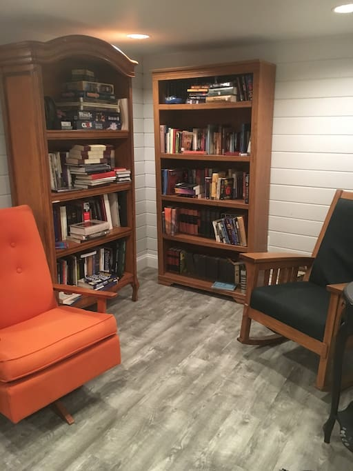 Part of the basement suite- reading nook/family games available as well.