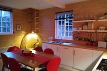 The kitchen looking cosy