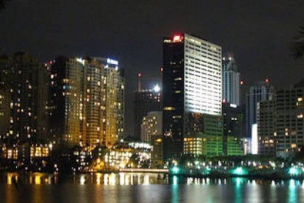 Brickell and Downtown at night