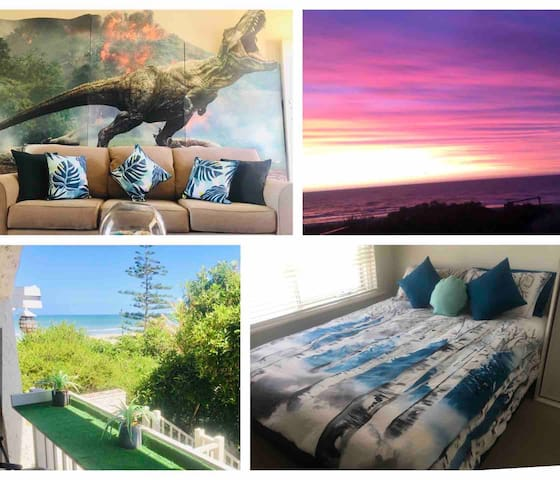 Summer Beach Unit with breakfast items & sea views
