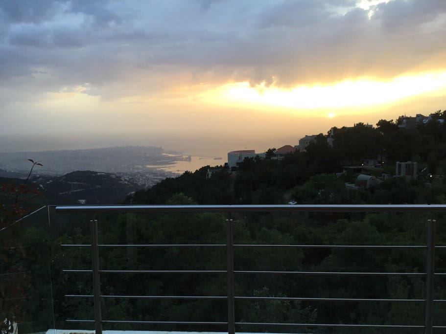 Amazing Sunset Views Over The Mediterranean and Downtown Beirut From Your Own Private Wrap Around 150 Square Meter Patio.