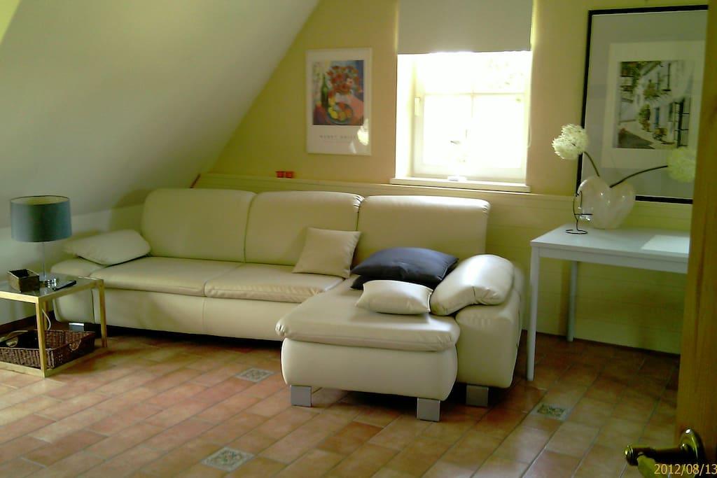 wohnen in einem apartment im fachwerkhaus stuhr niedersachsen allemagne. Black Bedroom Furniture Sets. Home Design Ideas