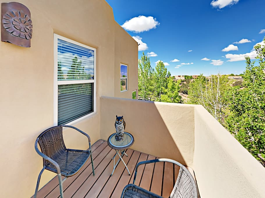 Take in beautiful views from 2 sunny balconies.