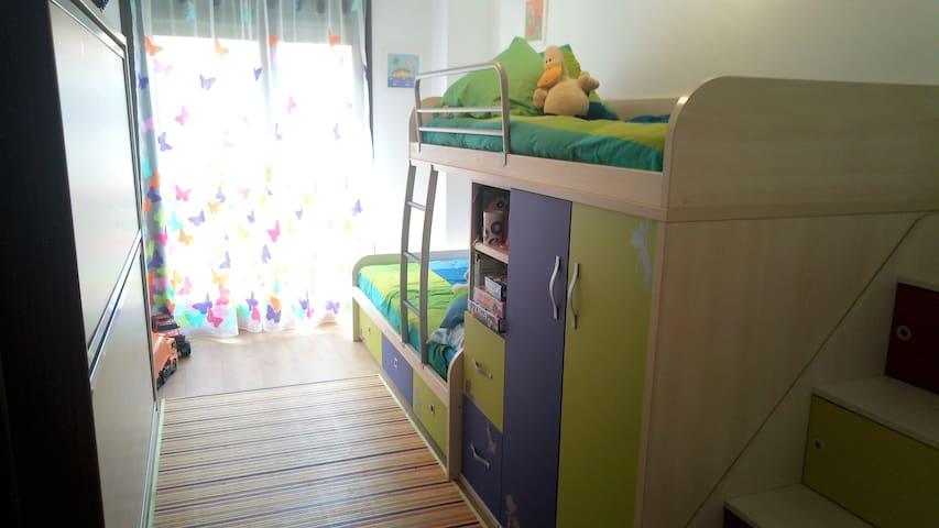 Habitación 2,  4 camas individuales
