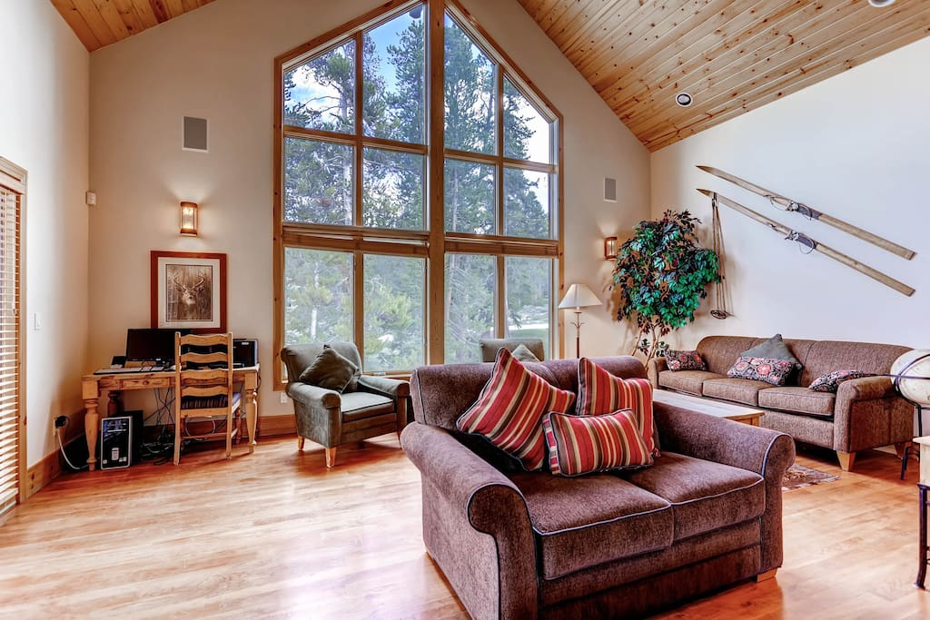 The vaulted ceilings let in tons of natural light