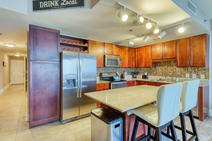 Waterfront resort condo w/ shared pools, pool spas, gym, & on-site dining