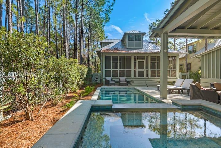 Lavish Home w/ Private Pool & Spa, Walk to Beach