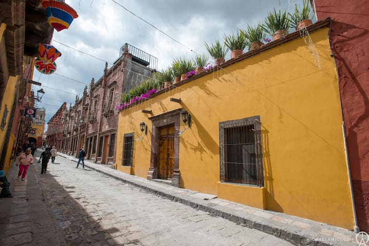 The Amazing Casa Proserpina!  Less than a Half a Block from the Jardin and Parroquia, on one of San Miguel's Best Streets for Shopping and Fabulous restaurants!