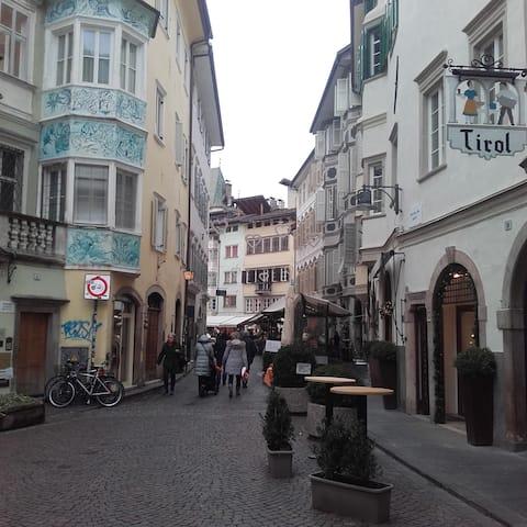 Zentrum Bozen Fussgängerzone