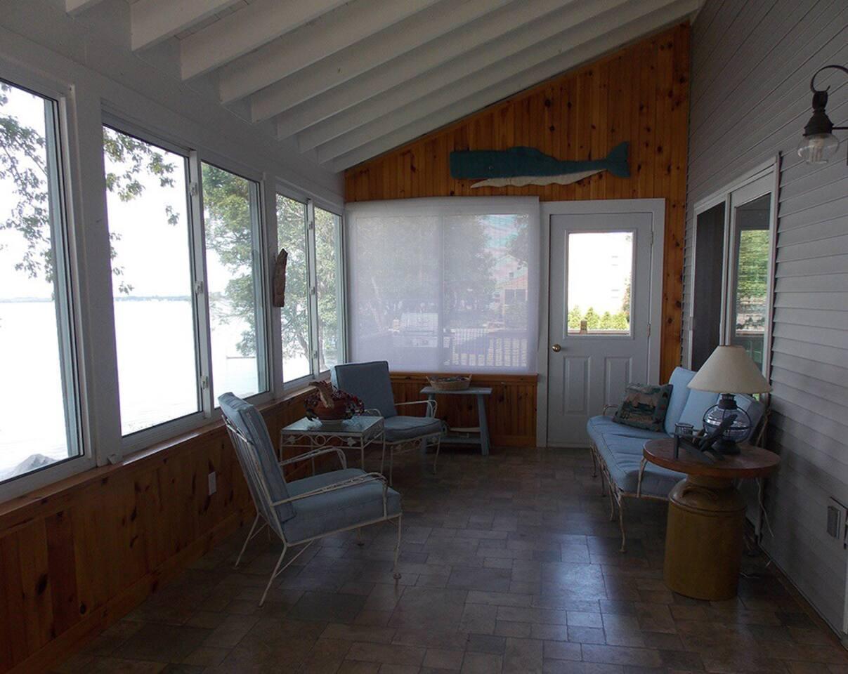 Enclosed Porch w/outside deck