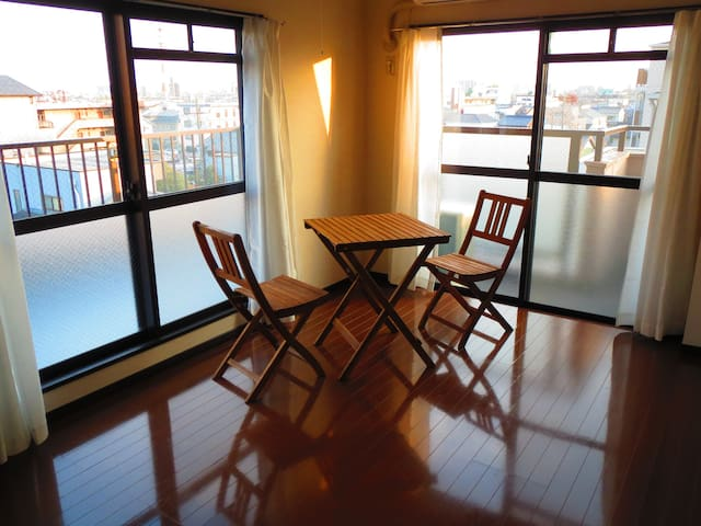 10mins to Nagoya Station.Space is 57 sqm.Free wifi - Nakamura Ward, Nagoya - Apartamento