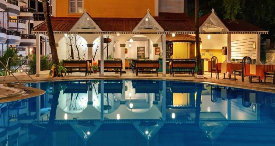 Baga Resort 5 * 1 Bedroom Apartments near Tito's - Calangute Beach - Appartement