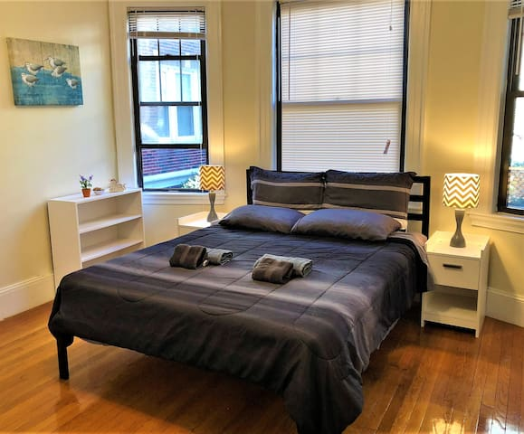 Stylish Bedroom in Coolidge Corner