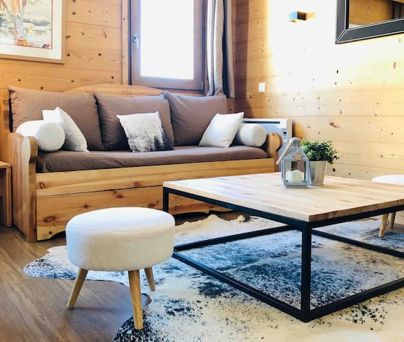 Appart 6 pers COSY refait à neuf VALMOREL 42m2
