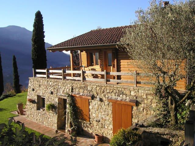 chalet panoramico vista lago garden - Ranzanico - Huis