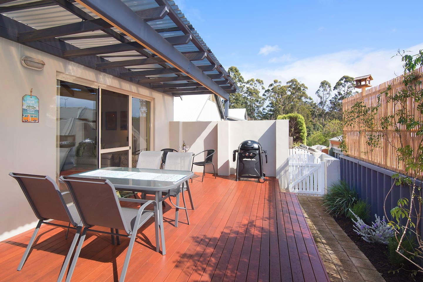The private decked courtyard area is the perfect place for a BBQ.