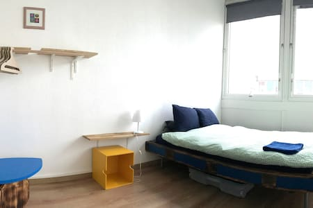 Bright & cozy in vibrant area for nomad travelers - Carouge - Hostel