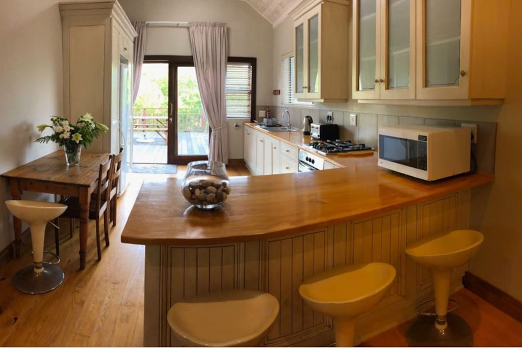 Kitchen from living area