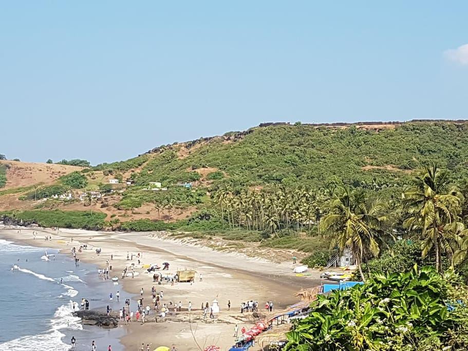 Beach from Hill top