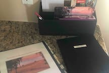 Welcome guide, guest book and local info