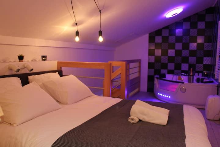 Le logis du bien-être, balnéo & sauna dans chambre