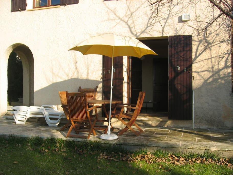 Le studio avec sa terrasse