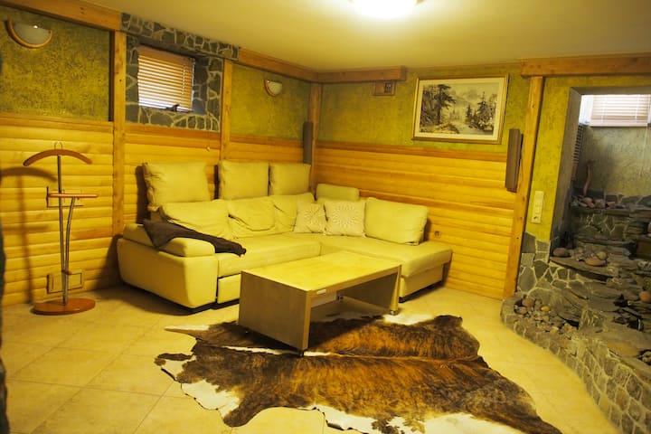 Comfortable accommodation with sauna and garage