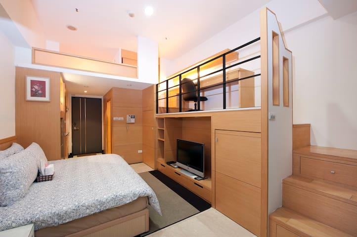 【O氧氣成都館-991122】西門站 -經典樓中樓 1~4人房 - Wanhua District - House