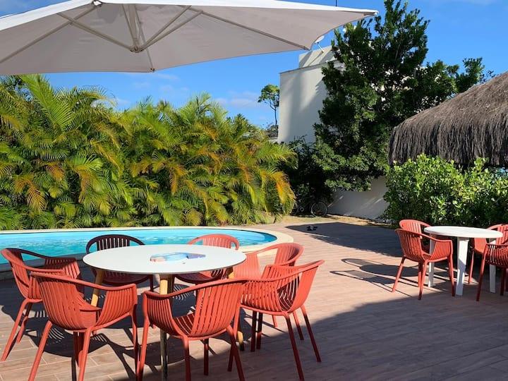 Paraíso de 7 quartos, 6 suítes, piscina, no Pontal