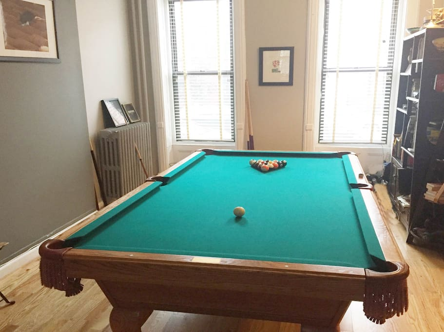 New addition to the home - a Full size 8' Pool table!