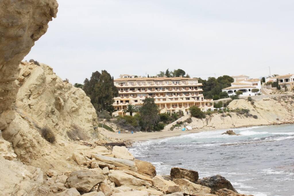 Vista desde la playa del Complejo de Aptos. Venta Lanuza