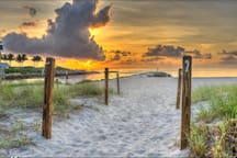 Boca's Beautiful Beaches are less than 2 miles away.  In the morning I like to walk or jog down and see the sunrise!