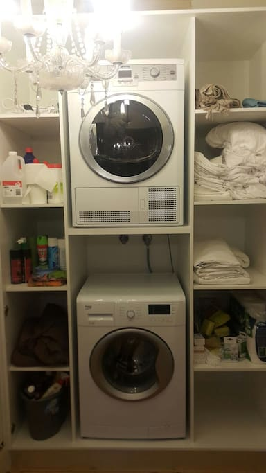 Washer and dryer access