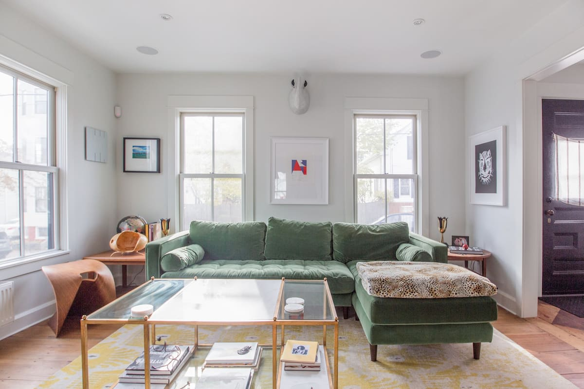 Visit Local Galleries from a Cozy House Filled with Art