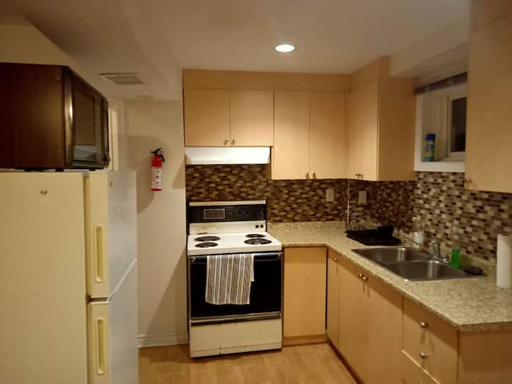 Private 1 bedroom walkout apartment