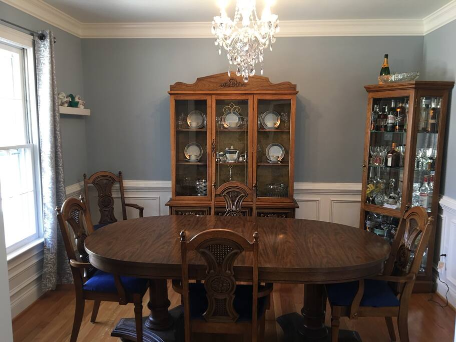 Dining room from the formal living room