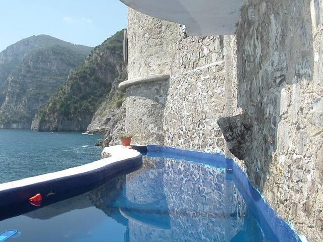 Sea-front pool - Yellow apartment - Piano di Sorrento - Flat