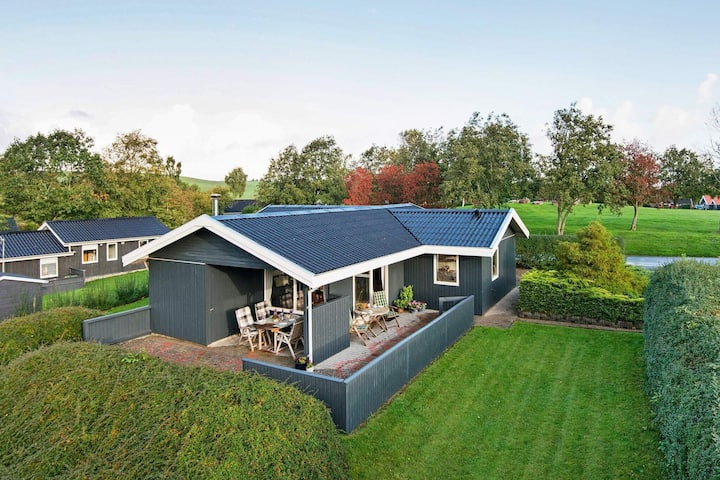 Modern Holiday Home in Jutland with Roofed Terrace