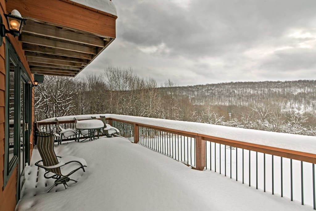 Sit and admire the views from the massive deck.