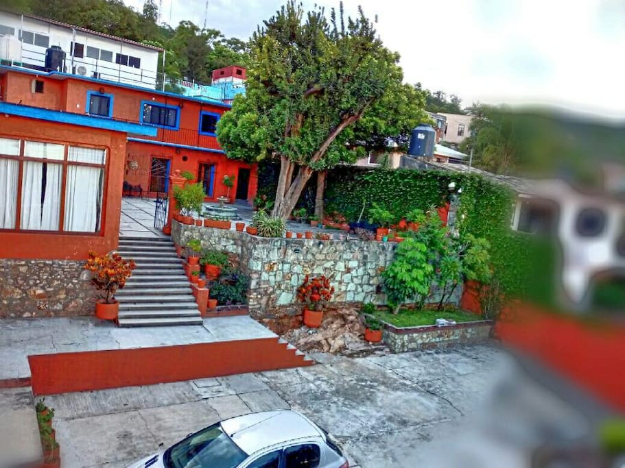 The apartment is located inside a beautiful house with a big garden to enjoy