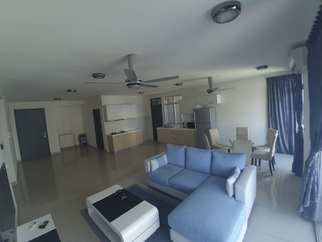 3 BR New Apt @Permas,Guarded,6pax - Masai