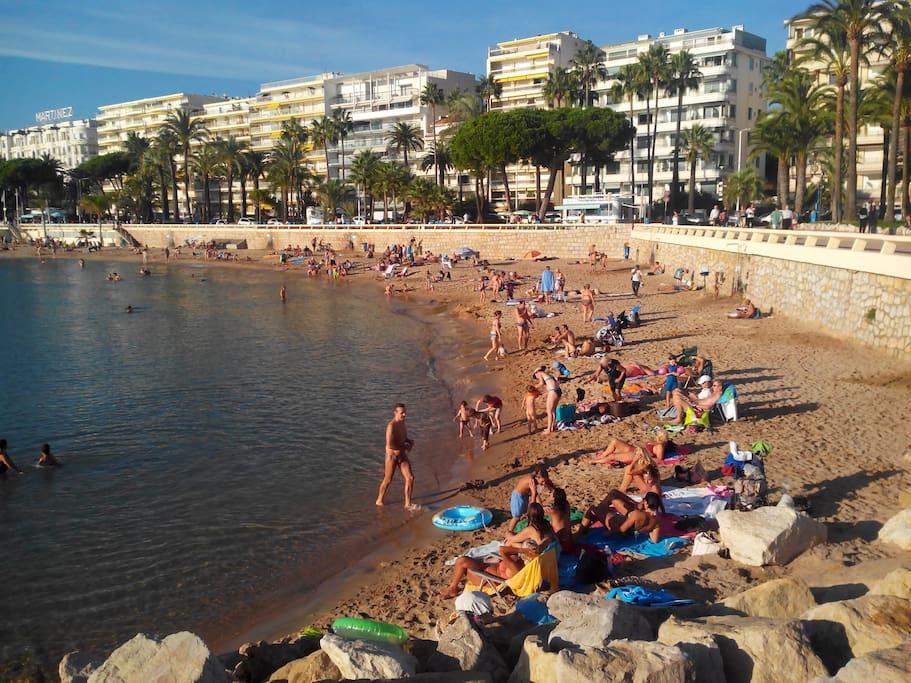 plages publiques croisette Cannes