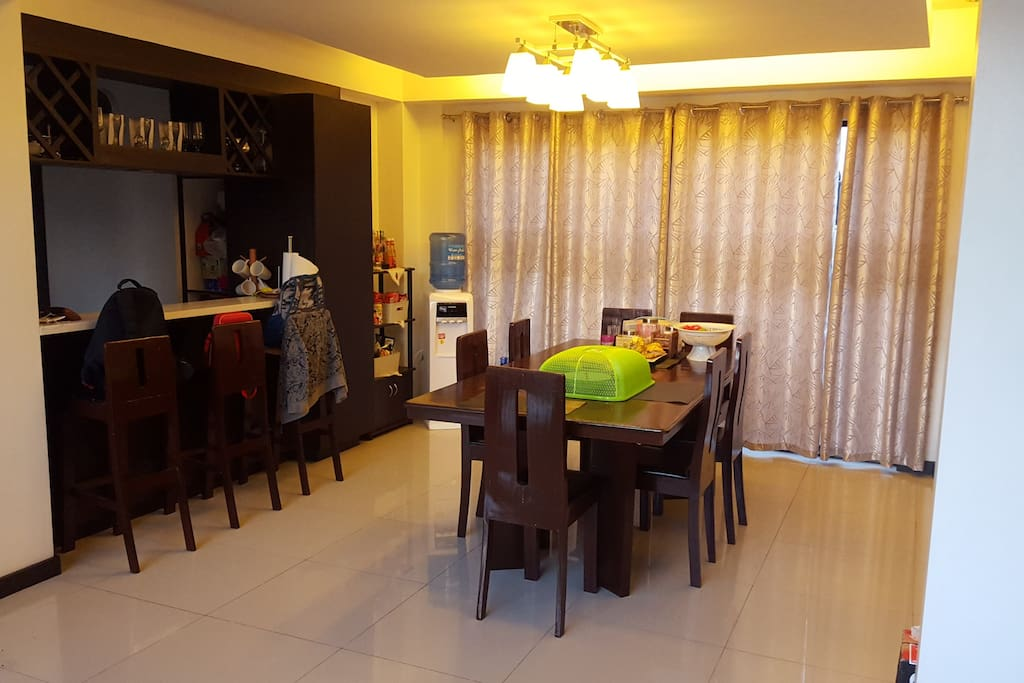 Dining room with bar counter