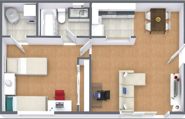 Quiet 1 Bedroom Apartment!
